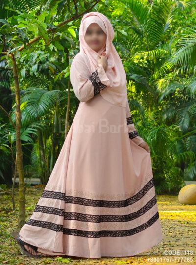 Light Pink Gown Style Borka