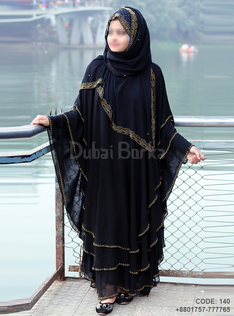 Latest Design Kaftan Borka Black